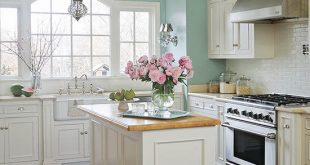 kitchen paint colors with white cabinets white and teal kitchen ZGQONYN