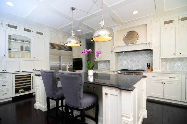 kitchens with white cabinets and dark floors open plan soft white cabinets contrasting dark floors contemporary-kitchen NTLSMSG