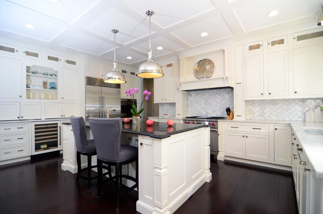 kitchens with white cabinets and dark floors open plan soft white cabinets contrasting dark floors contemporary-kitchen UJRWOOZ