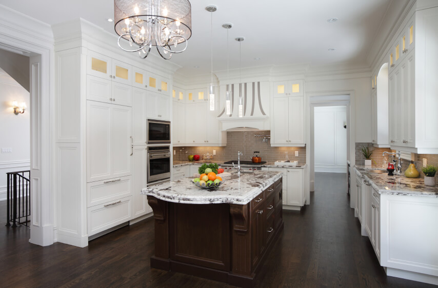 kitchens with white cabinets and dark floors remarkable on floor ENASWHM