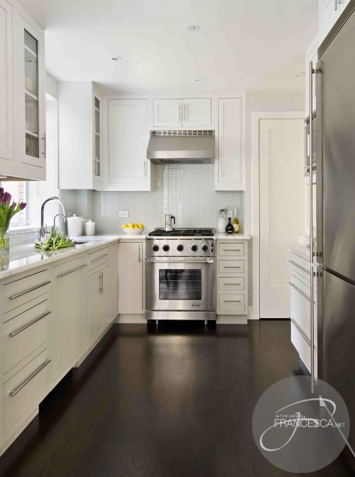 kitchens with white cabinets and dark floors white kitchen cabinets dark hardwood floors YBSQWTZ