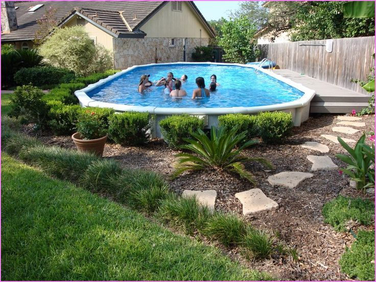 landscaping ideas around above ground pool 95 best above ground pool landscaping images on pinterest backyard SILHDGO