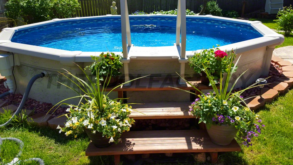 landscaping ideas around above ground pool be sure to check out many more pool installs for QVFNVFB