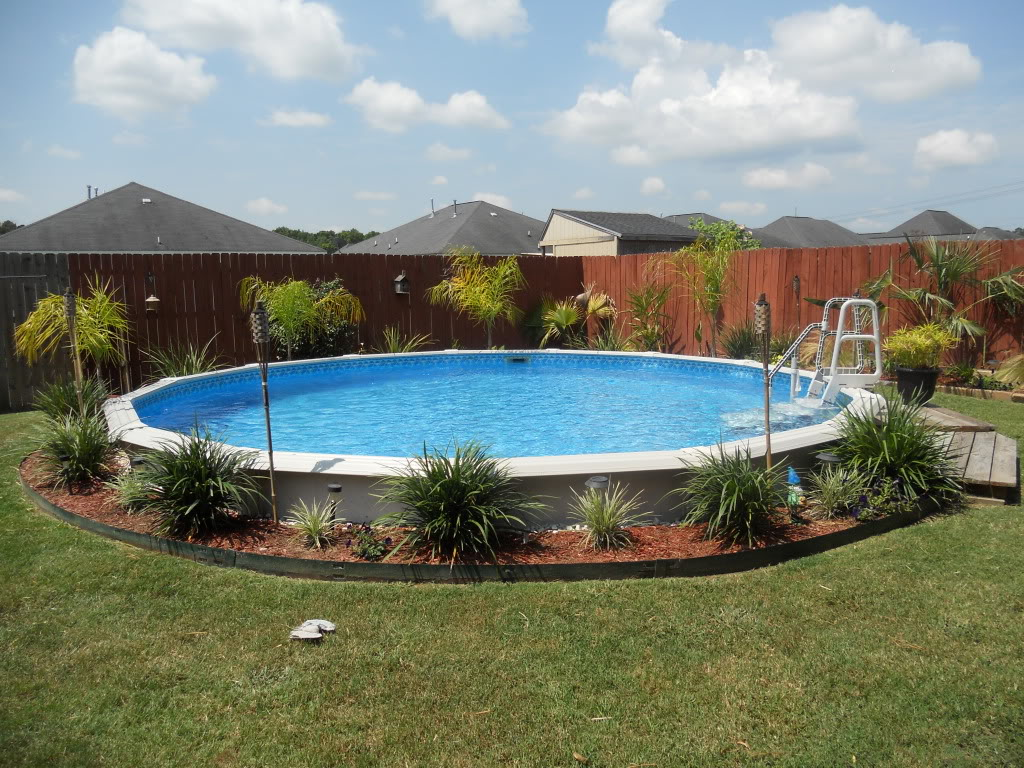 landscaping ideas around above ground pool how to landscape an above ground pool FBIQYWO