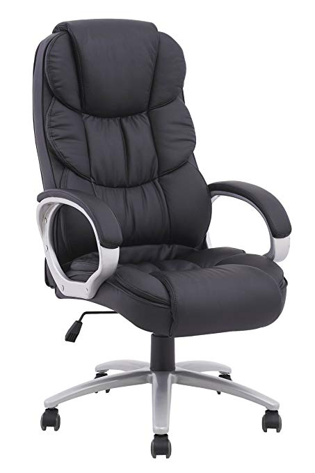 leather executive office chair high back bestoffice ergonomic pu leather high back executive office chair, black UWWGXQZ