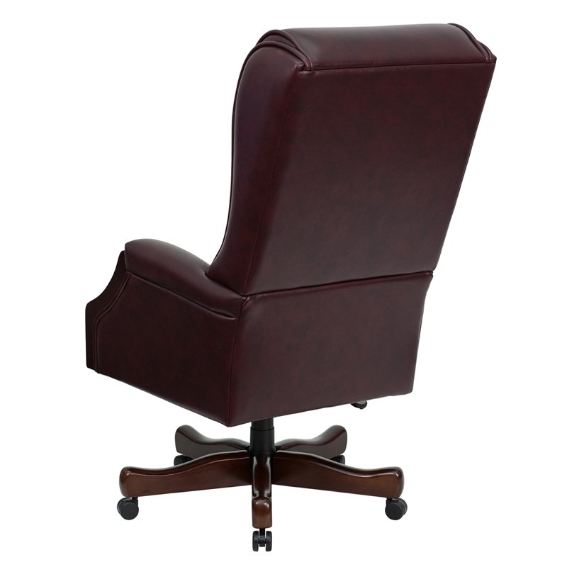 leather executive office chair high back flash furniture high back traditional tufted burgundy leather executive CGQCKMH