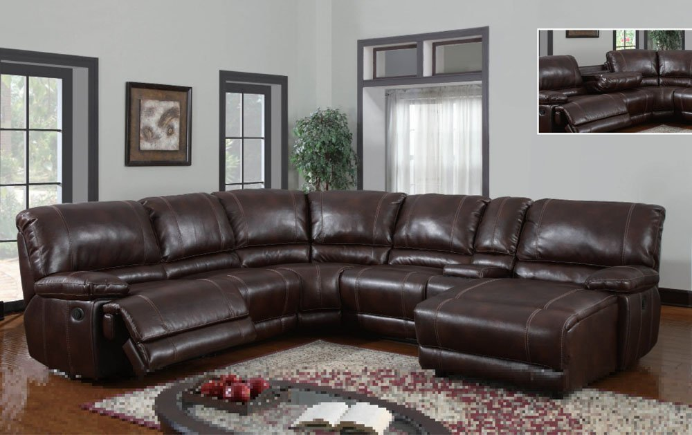 leather sectional sofa with chaise and recliner 3 piece bonded leather sectional reclining nail head accent sofa APUDJJG
