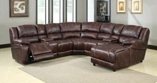 leather sectional sofa with chaise and recliner 3 piece bonded leather sectional reclining nail head accent sofa CAGJQBZ