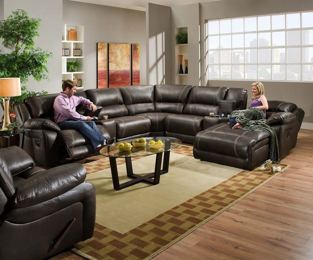 leather sectional sofa with chaise and recliner blackjack simmons brown leather sectional sofa chaise lounge theater OWWNMPF