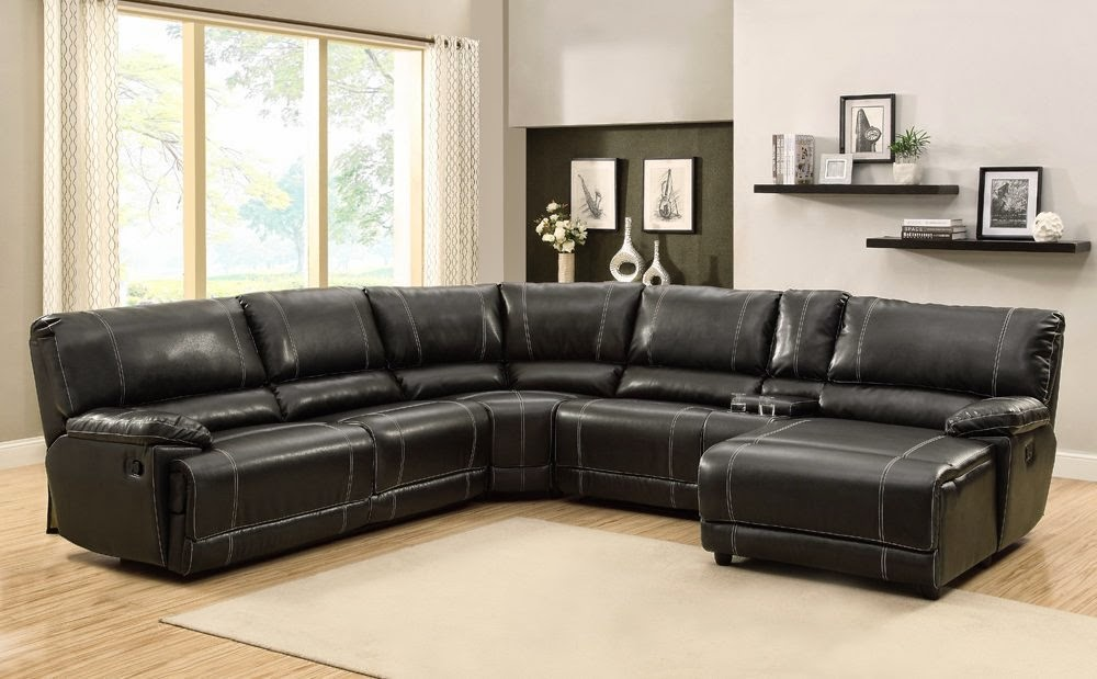 leather sectional sofa with chaise and recliner leather sectional sofa chaise recliner photo - 1 EAWEFKY