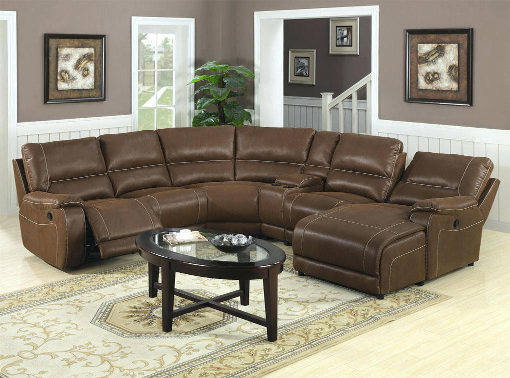 leather sectional sofa with chaise and recliner sectional couches with GQQXOIW