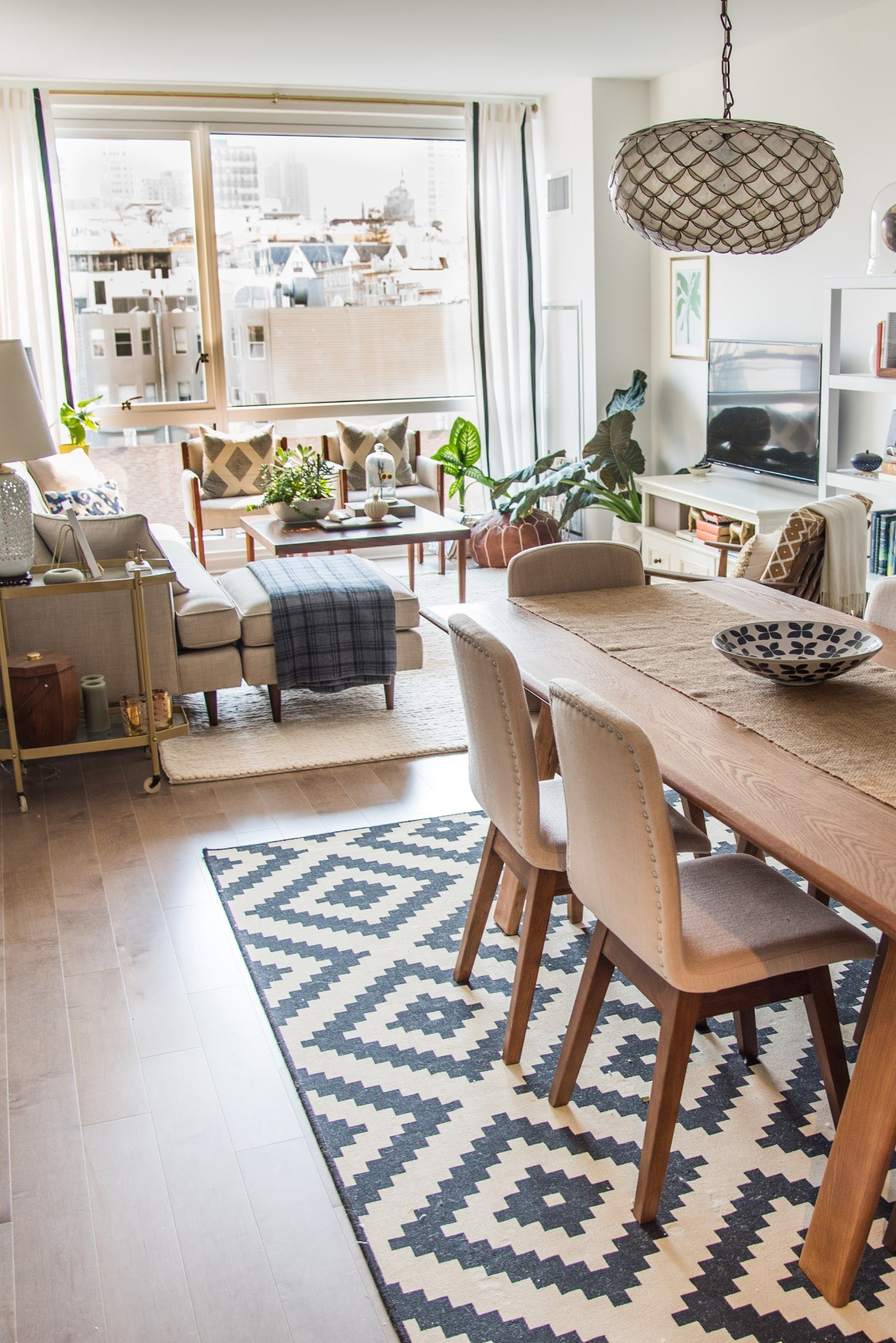 living and dining room together small spaces jeniu0027s mixed MHKHIRM