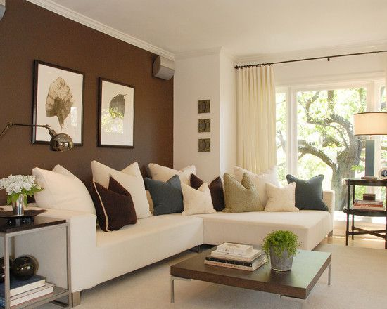 living room accent wall with brown furniture an accent wall in a room adds a new feeling RWUMQDN