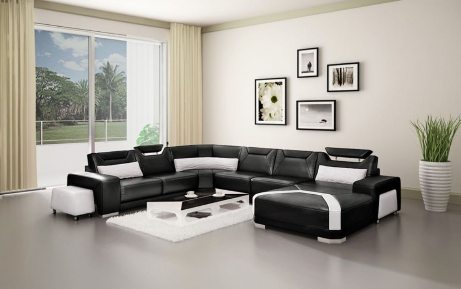 living room colors for black leather furniture black and white leather sofa sectional in white creamy living CAPBIEW