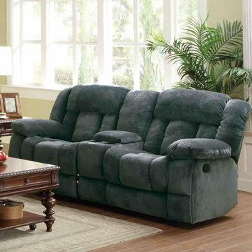 microfiber reclining loveseat with console homelegance laurelton doble glider reclining loveseat w/ center console in ECCMTUE