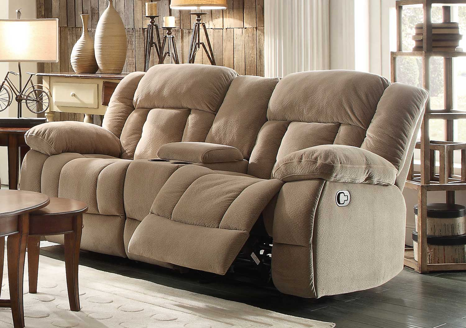 microfiber reclining loveseat with console homelegance laurelton double glider reclining love seat with center console LSRDUQC
