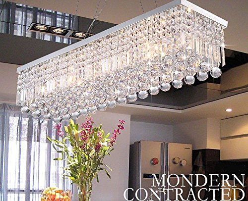 modern crystal chandeliers for dining room crystop rectangle crystal chandeliers dining room modern ceiling light HYUDREO