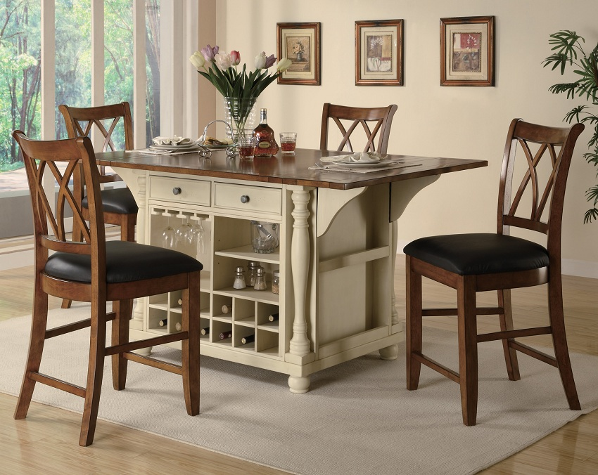 narrow counter height table for kitchen buttermilk collection 102271 counter height dining table set rh wyckes BQIYJAI