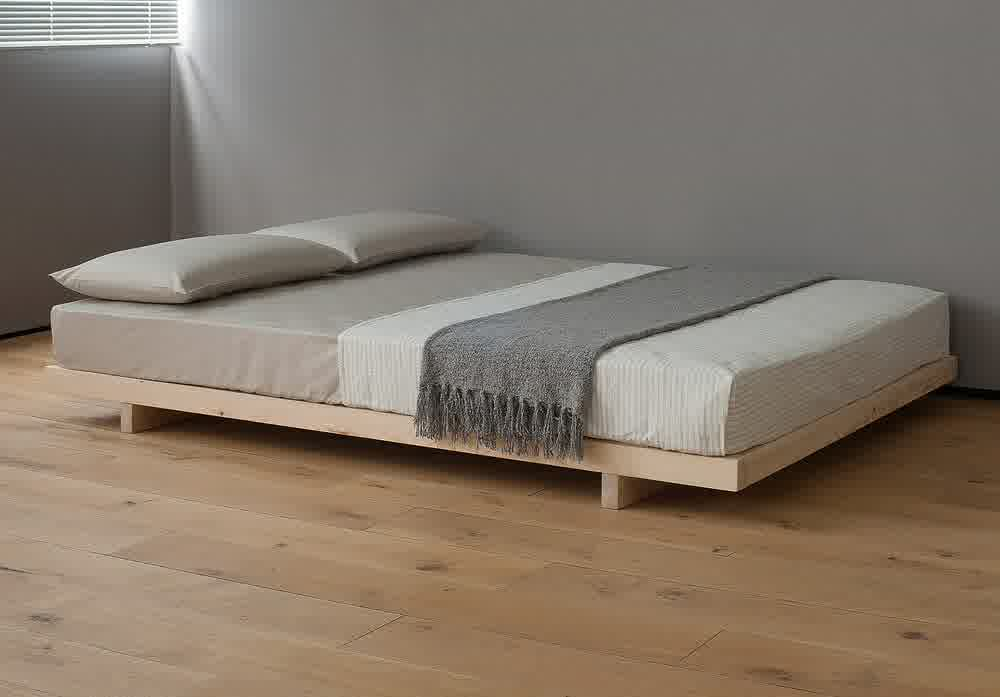 nice queen platform bed frame with headboard with luxury wood PVKRHDC