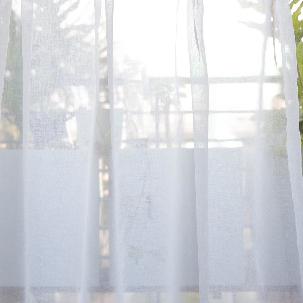 Plain Sheer Curtains mist - plain weave voile sheer curtains - white -extra long curtains DIGNVKV