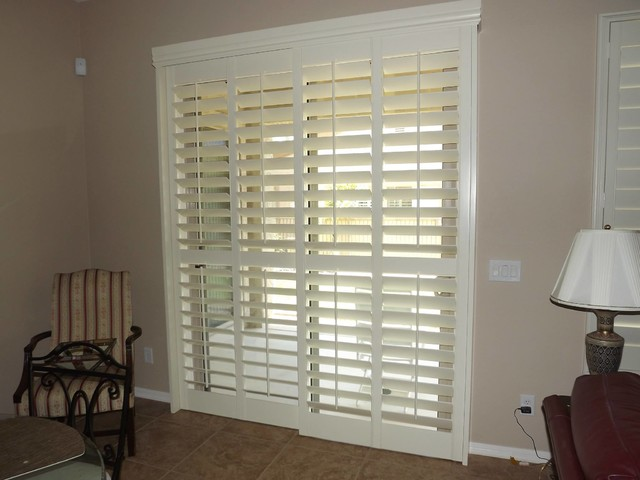 Plantation Shutters for Sliding Glass Doors for Your Modern Home