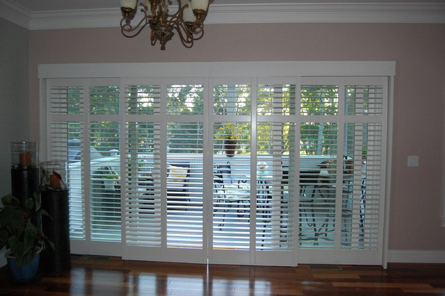 plantation shutters for sliding glass doors plantation shutters traditional XUOGJVY