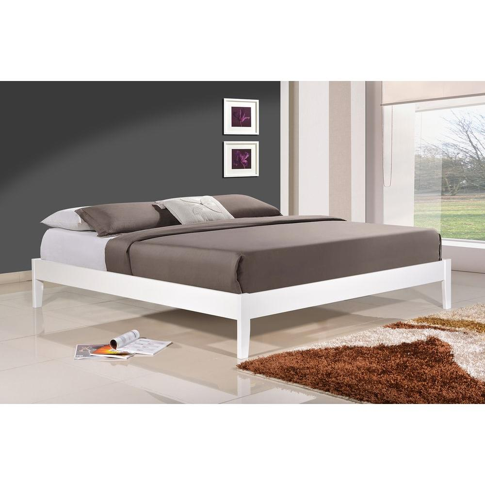 queen platform bed frame with headboard altozzo manhattan queen wood platform bed DSXPIZA