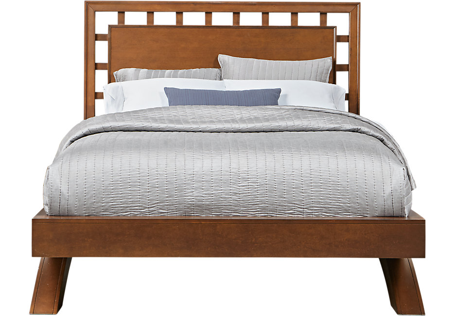 queen platform bed frame with headboard belcourt cherry 3 pc queen platform bed with lattice headboard EZAKYFB