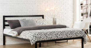 queen platform bed frame with headboard zinus modern studio black queen platform bed EGDNOWI
