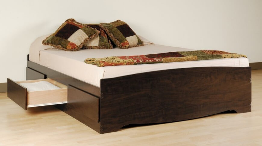 queen size bed frame with drawers underneath 25 incredible queen-sized beds with storage drawers underneath NLUMOKH