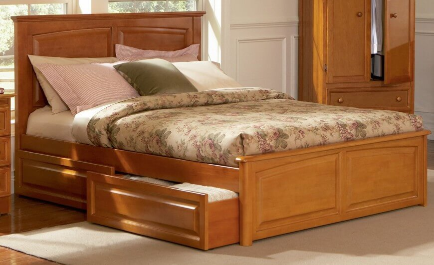 queen size platform bed frame with storage crown molding and modern square feet are the best details BWABYRZ
