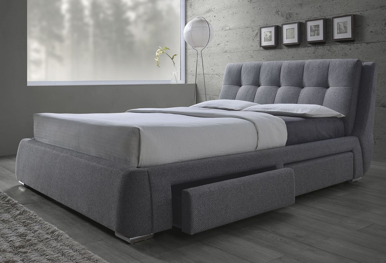 queen size platform bed frame with storage fenbrook grey linen queen size platform bed with storage 300523q. KOFSGQS