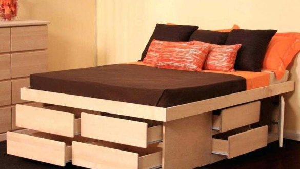 queen size platform bed frame with storage home and furniture: artistic queen size platform bed frame with BNPGZSV