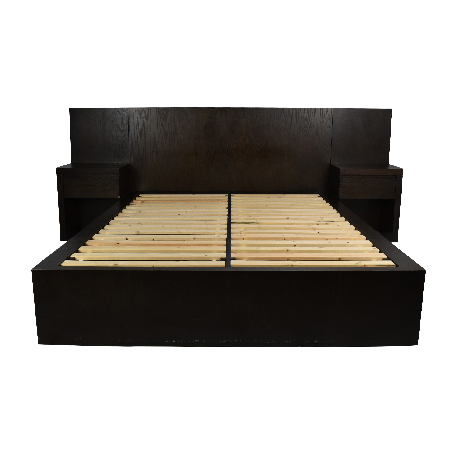 queen size platform bed frame with storage west elm queen size storage platform bed frame / beds MEGBQMI