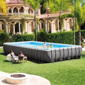 rectangular above ground swimming pools intex 32u0027 x 16u0027 x 52 QSYVTNO