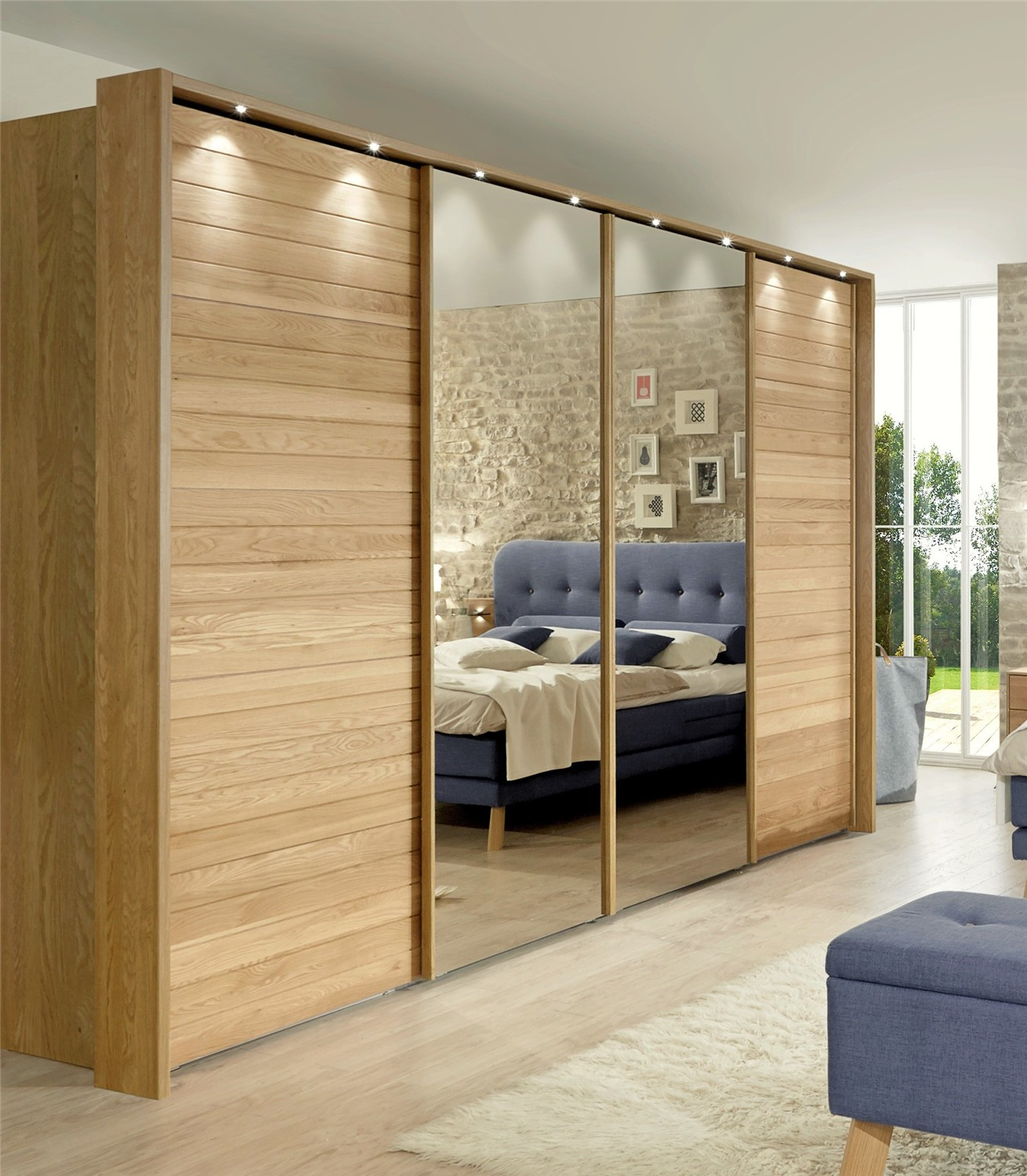 sliding mirror closet doors for bedrooms ideas of solid wood wardrobe by team 7 valore sliding RLJWZNA