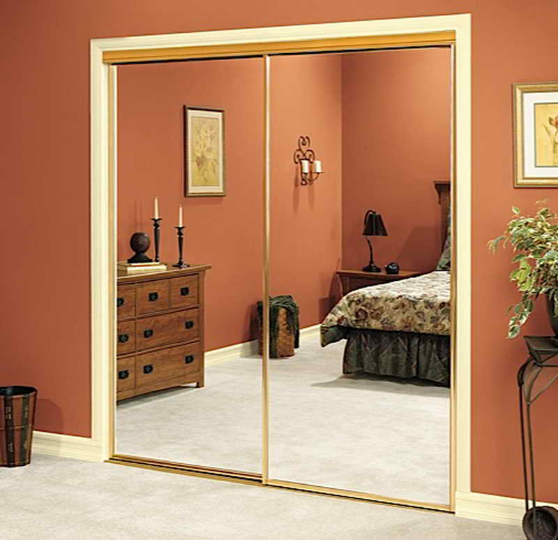 sliding mirror closet doors for bedrooms mirrored bifold closet doors design VWRINXQ
