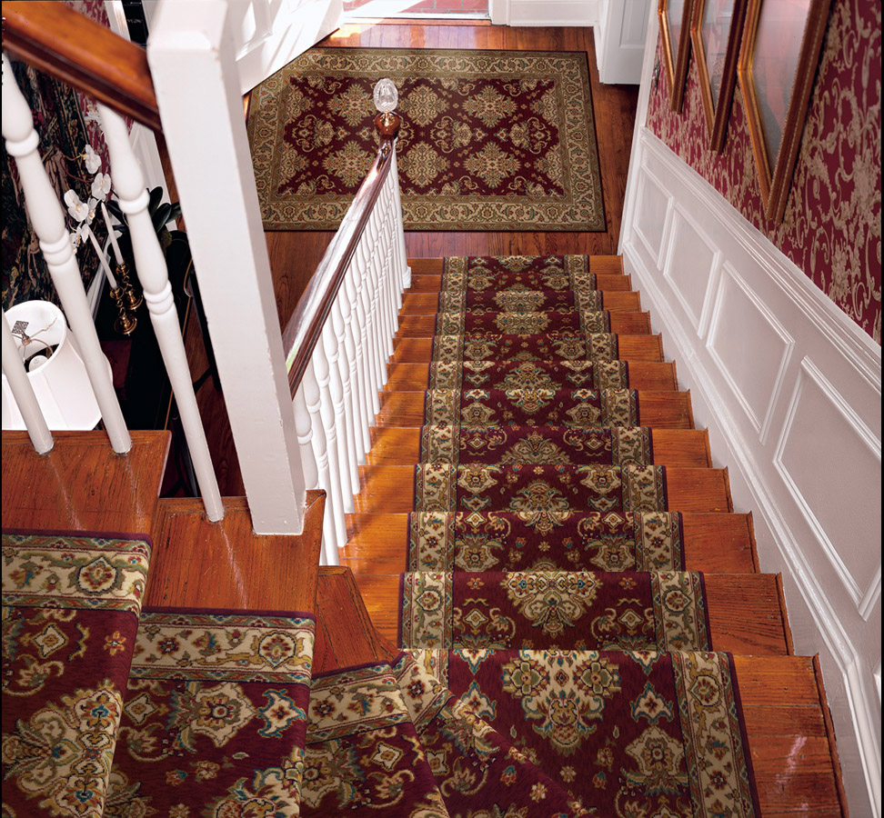 stair runners by the foot palace garden pg-01 burgundy carpet stair runner TMSRRKF