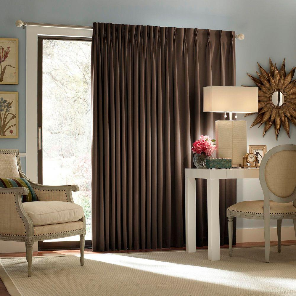 thermal curtains for sliding glass doors eclipse blackout thermal blackout patio door 84 in. l curtain KXWWOPY