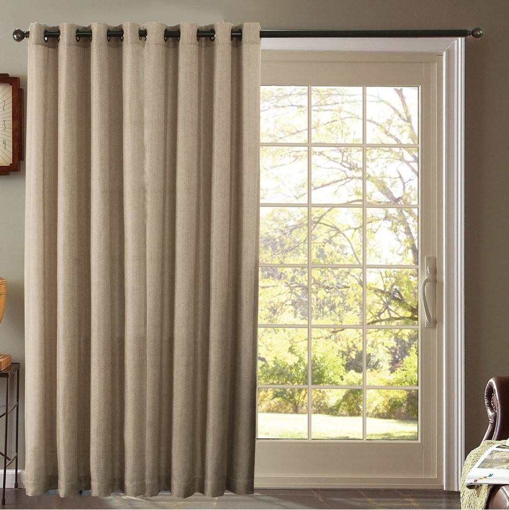 thermal curtains for sliding glass doors furniture fresh - blackout thermal faux linen pair of curtain VEIHQWS