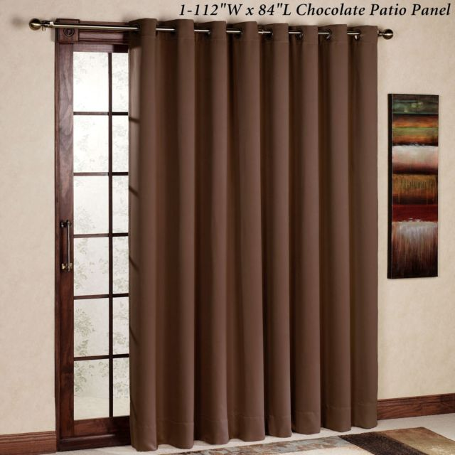 thermal curtains for sliding glass doors rhf thermal insulated blackout patio door curtain panel, sliding door LNPHIYP