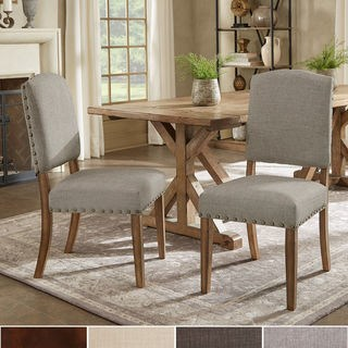 upholstered dining room chairs with arms benchwright premium nailhead upholstered dining chairs (set of 2) by XVLDBKZ