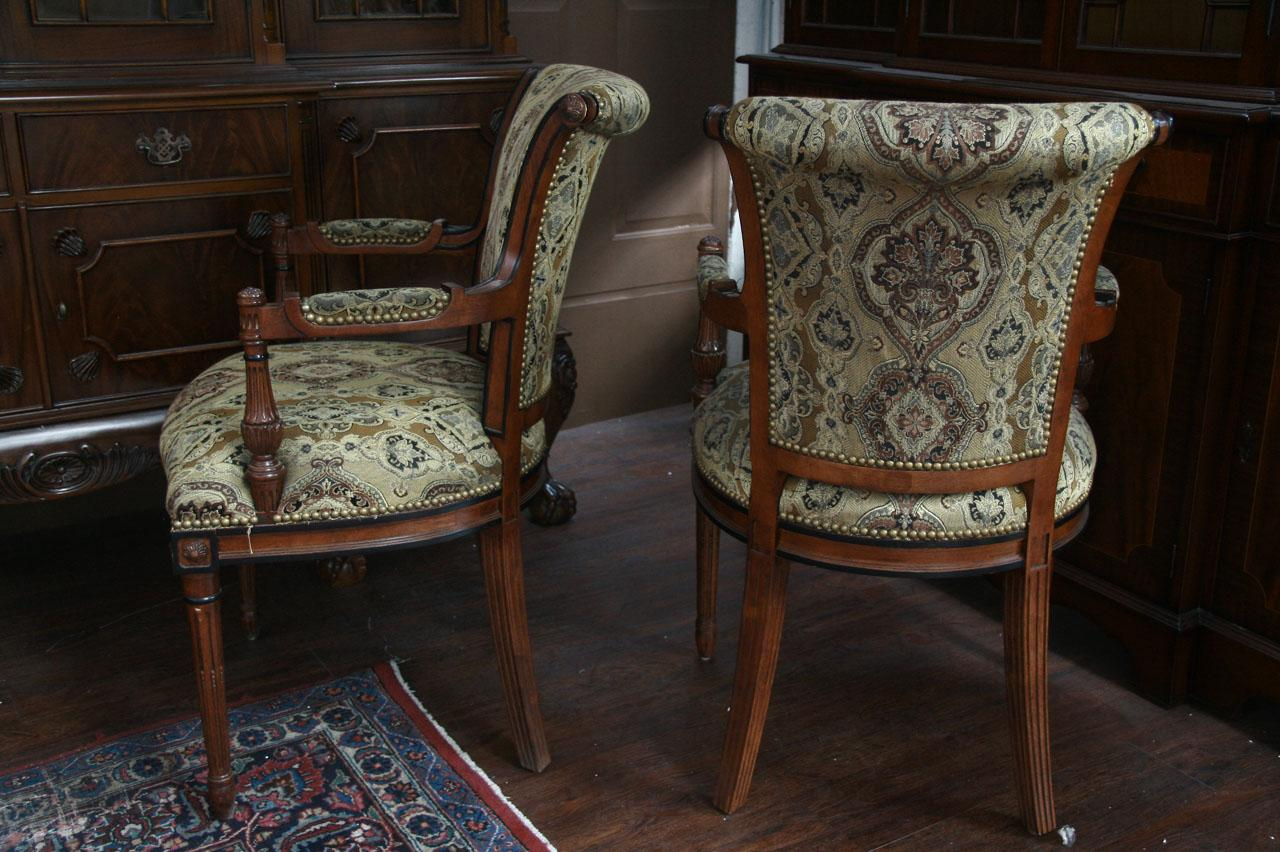 upholstered dining room chairs with arms related VCALUQK