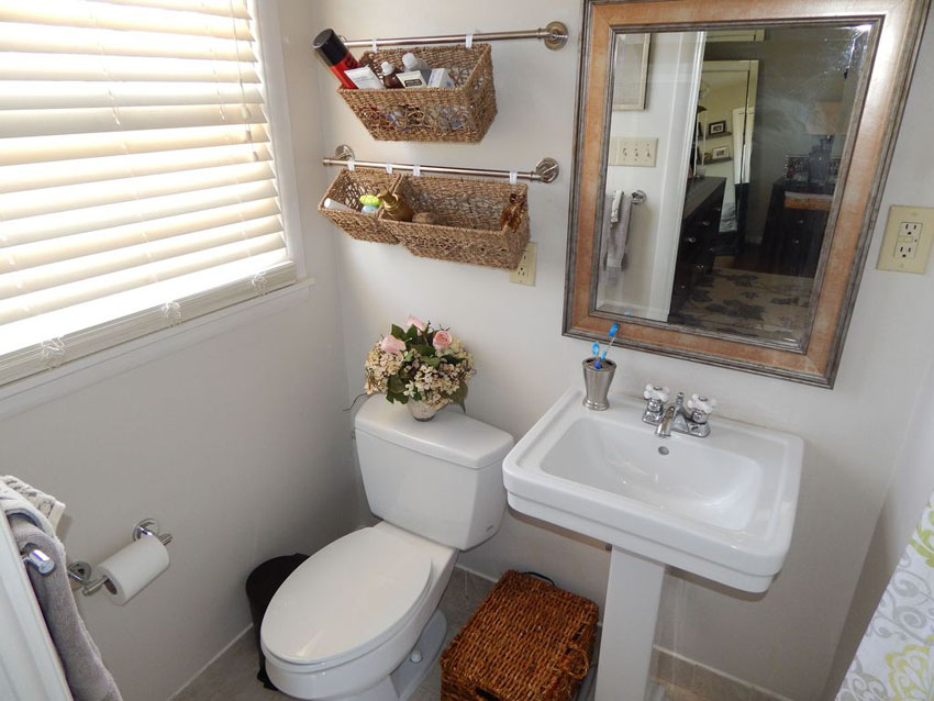 wall hanging baskets for bathroom storage awesome our large bathroom is sooo small bathroom storage solution CMKOKSN