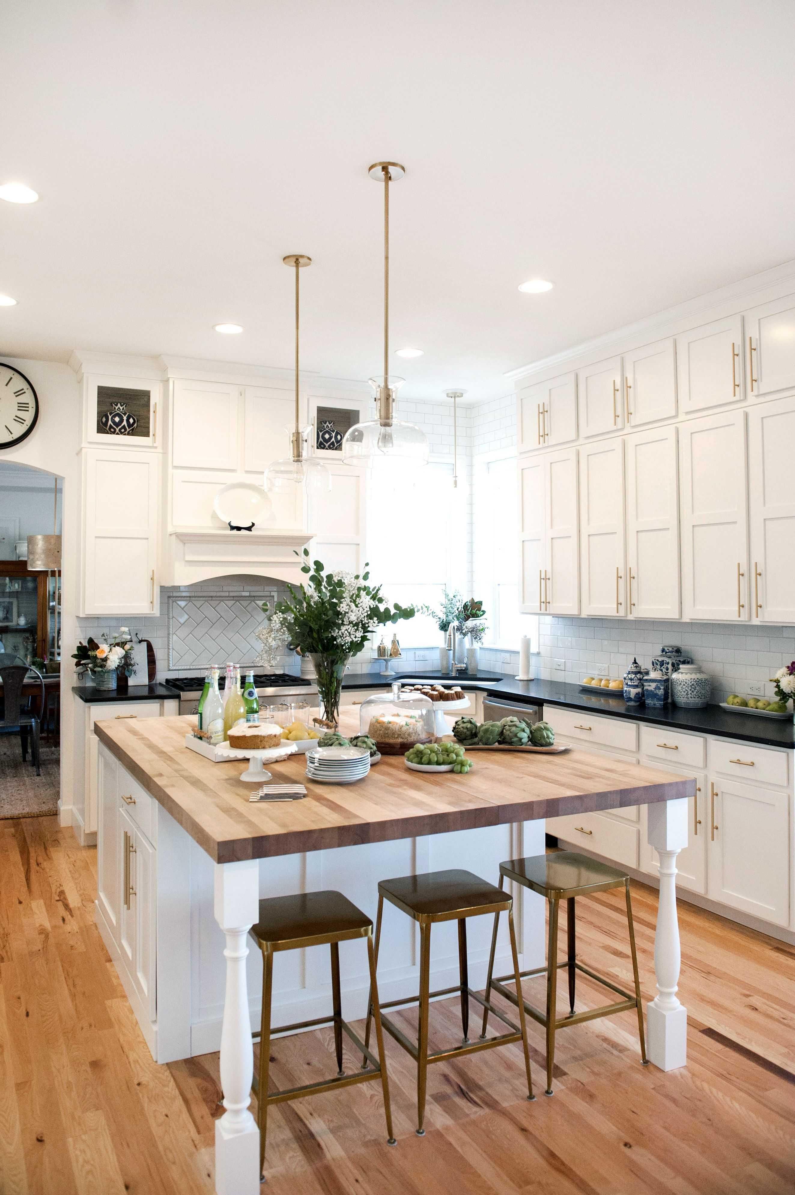 white kitchen island with butcher block top for also attractive KKTKCOZ