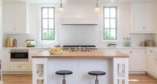 white kitchen island with butcher block top white kitchen island with shelves and butcher block top PGSEPGQ