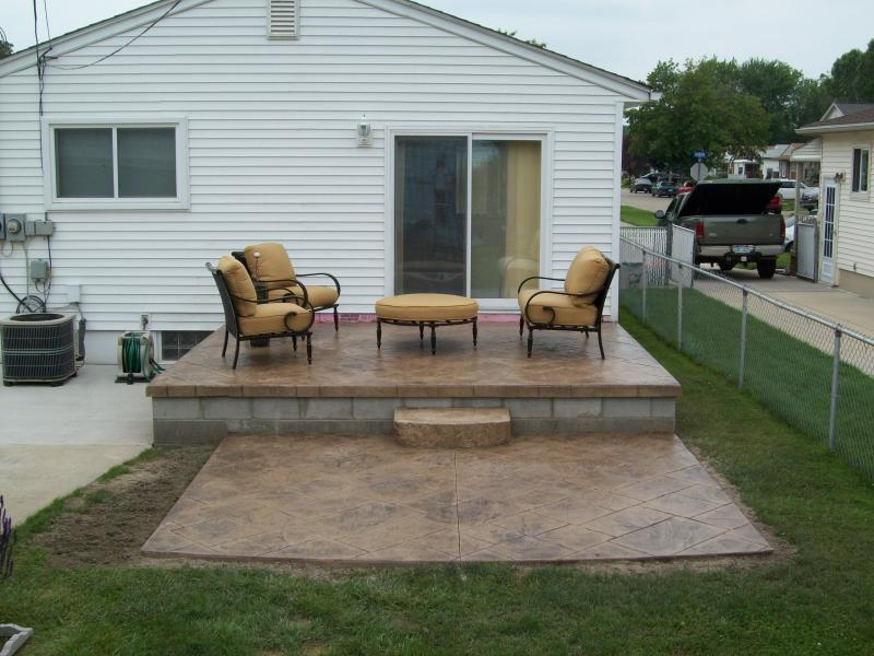 wonderful concrete patio ideas for small backyards concrete patio ideas for ELBWQJP