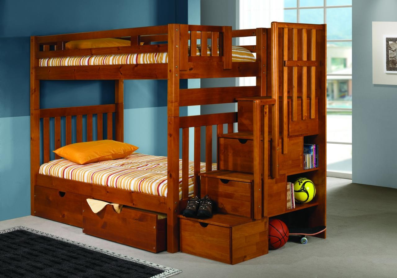 wooden bunk beds with stairs and drawers solid wood staircase bunk bed RHNRHVO