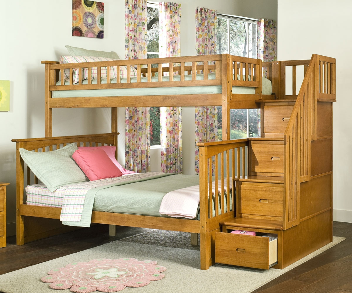 wooden bunk beds with stairs and drawers wonderful full and twin bunk bed 24 over beds stairs UDJHTUI