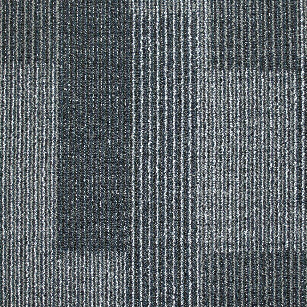 carpet tile patterns texture rockefeller midnight blue loop 19.7 in. x 19.7 in. carpet tile (20 IHTJUIB